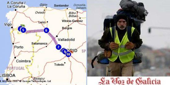 Un parado gallego camina 500 km para exigir explicaciones a Zapatero