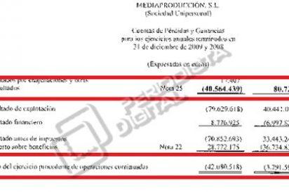 Mediapro sigue los pasos de Prisa: debe más de 2.000 millones de euros y pierde 42 millones de euros en 2009