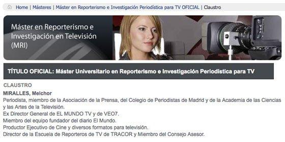 Melchor Miralles, de falso 'periodista' y 'abogado', a falso 'profesor universitario', delito penado con 5 años de cárcel (IV)