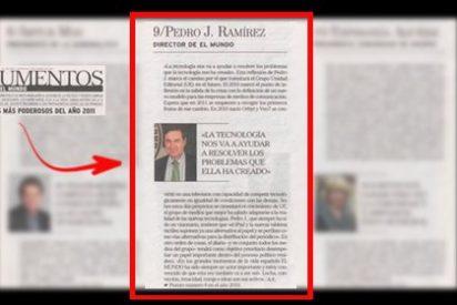 Los delirios de grandeza de Pedrojota: se sitúa a sí mismo entre las diez personas más poderosas de España