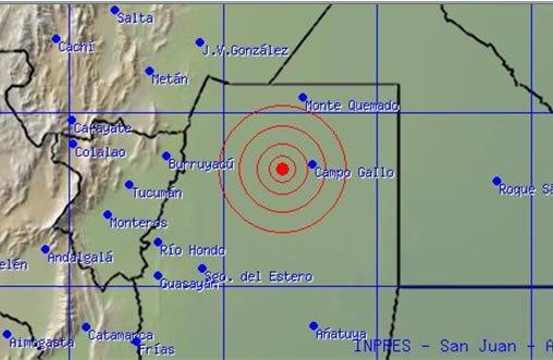 Sismo de 7 grados en la escala de Richter sacudió norte de Argentina