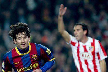 3-0. El Barça golea al Atlético con tres goles de Messi y sigue batiendo récords