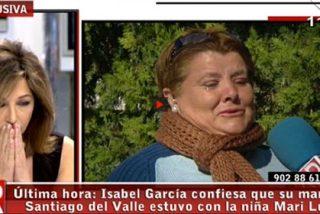 """La mujer de Santiago del Valle confiesa en directo en 'Ana Rosa': """"Mi marido se cargó a Mari Luz"""""""