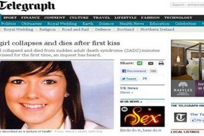 Una joven de 18 años muere después de besar a su novio por primera vez