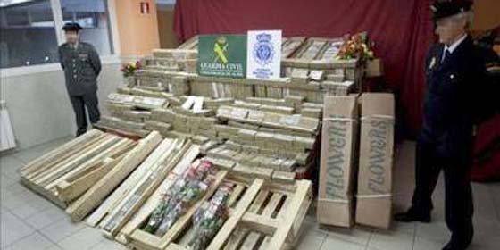 Decomisan en Madrid 71 kilos de cocaína en un cargamento de rosas de Colombia