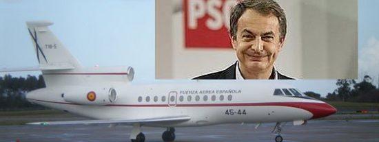 Zapatero viaja en avión oficial y a cargo del contribuyente a actos electorales del PSOE