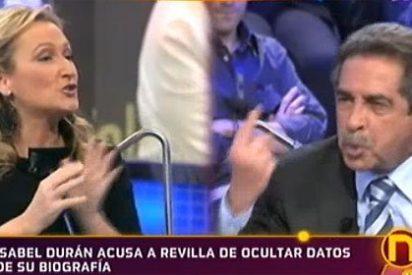 Isabel Durán saca los colores a Miguel Angel Revilla en 'La Noria' de Telecinco