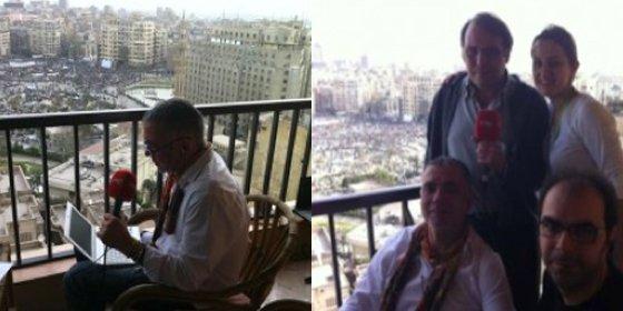 Juan Ramón Lucas, corresponsal de RNE en Egipto... ¡sin salir del hotel!