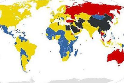 El mapa de la censura online en el mundo