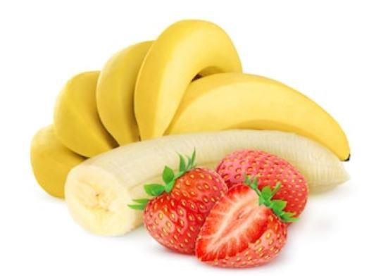 plátanos y fresas