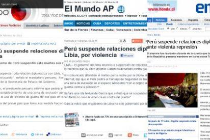Perú es el primer país que suspende relaciones con Libia