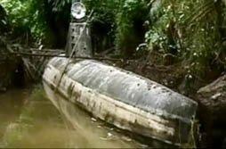 """Hallan en Colombia un """"narco-submarino"""" utilizado para transportar hasta 8 toneladas de droga"""