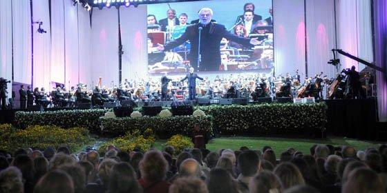 Plácido Domingo deslumbró en Buenos Aires ante más de 120 mil personas