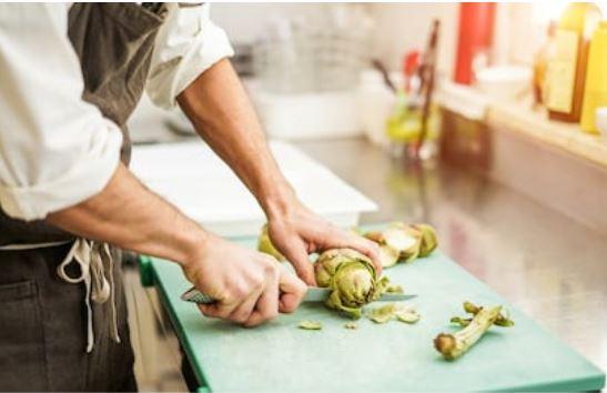cortar alcachofa