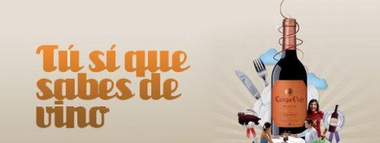 ¡Tú sí que sabes de vino con Campo Viejo!