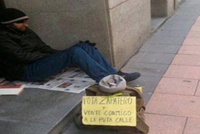 El mendigo que le cantó las cuarenta a Zapatero