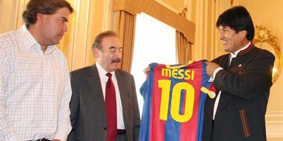 """Evo Morales: """"Messi es el mejor jugador del mundo"""""""