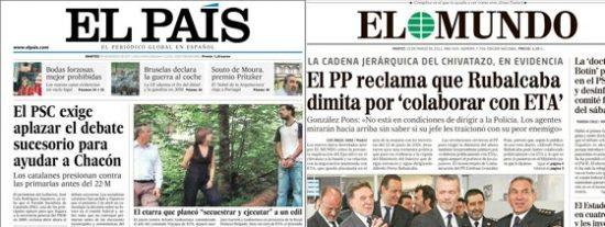 El País echa un capote a Rubalcaba y no ve claudicaciones ante ETA