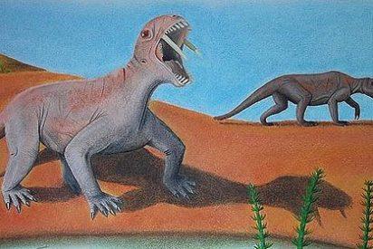 Descubren una extraña especie de herbívoro prehistórico con dientes de sable