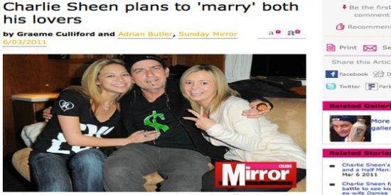 "Charlie Sheen planea formar ""una familia porno"""