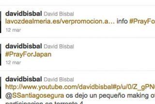 David Bisbal vuelve a meterse en un jardín con su Twitter: utiliza una 'etiqueta' de apoyo a Japón para promocionar su concierto en Almería