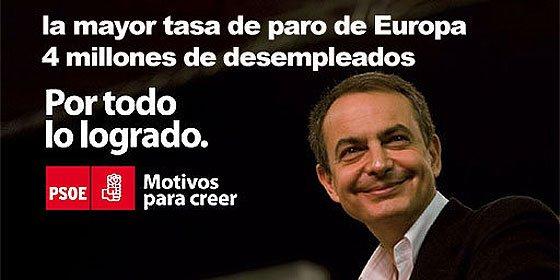 La España de Zapatero camino de los 5 millones de parados