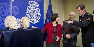 Localizadas las cabezas de las estatuas robadas en Burgos y detenido el ladrón