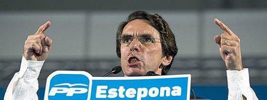 Aznar: «Me niego a ser el parapeto de la desvergüenza de este Gobierno»