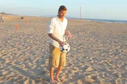 ¿Es real lo que hace David Beckham con el balón en el último anuncio de Pepsi?