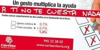 Más de un millón de personas participaron en 2010 en programas de inclusión social de Cáritas financiados por el IRPF