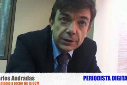"""Carlos Andradas, candidato a rector de la Universidad Complutense: """"Yo no tengo una visión tan catastrofista como la de mis rivales"""""""