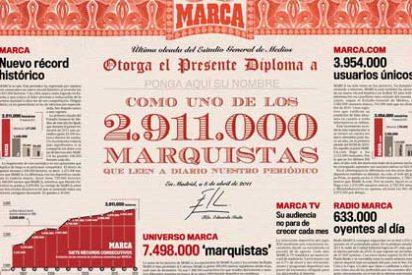 En sus últimos días en Marca, Eduardo Inda se pone aristocrático y sanciona de su puño y letra, como si del Rey se tratase, diplomas a sus 'marquistas'
