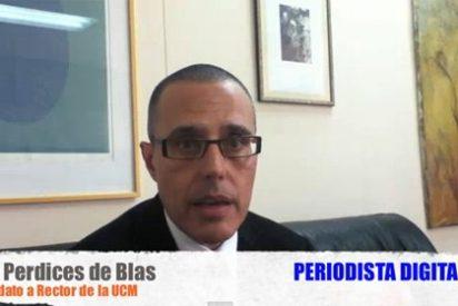 """Luis Perdices de Blas, candidato a Rector de la Complutense: """"He condenado los actos en la capilla, pero estoy a favor de la libertad de culto"""""""
