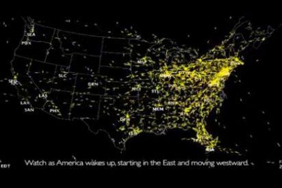 ¿Cómo es un día normal en el espacio aéreo de EEUU?