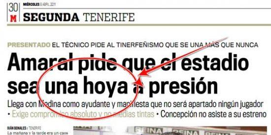 """A Marca se le va la olla y le marca un gol al diccionario colando en un titular """"hoya a presión"""""""