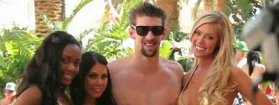 La alocada fiesta de Michael Phelps en una piscina llena de mujeres