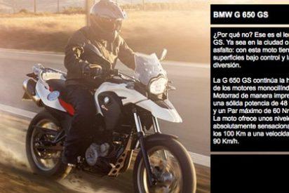 La G 650 GS 2011 sólo tiene de BMW las pegatinas: su motor es un Locin chino