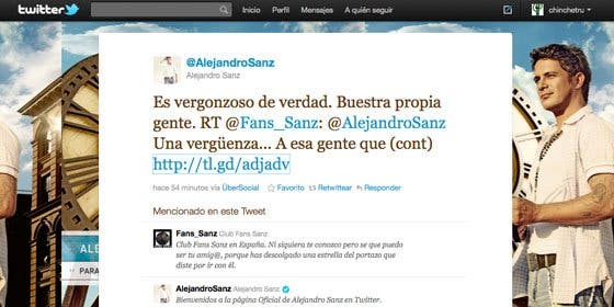 """Alejandro Sanz se despide de Twitter deseando """"que ardan"""" quienes le ridiculizaron por escribir """"Buestra"""""""