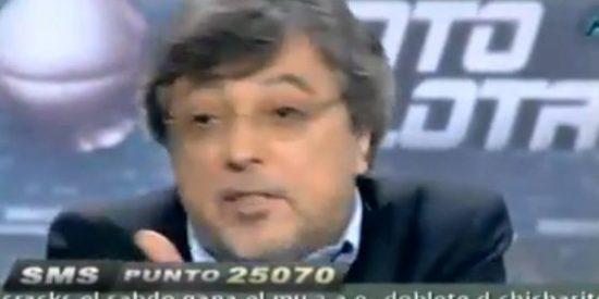 """José Damián González: """"El Madrid ha apostado por un personaje al que le gusta chapotear en el barro"""""""