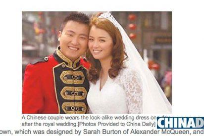 """El vestido de Catalina se vende como """"rosquillas"""" en China"""