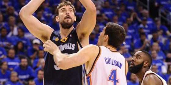 Los Grizzlies de Marc Gasol ganan en Oklahoma el primer asalto