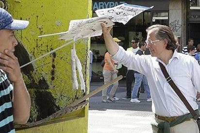 Ciudadanos indignados con los manifestantes 'indignados'