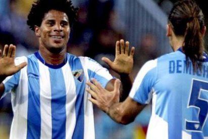 El Málaga consigue su quinta victoria consecutiva y respira en primera división