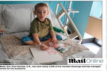 Un niño de cinco años vende dibujos de monstruos para pagarse el tratamiento de leucemia