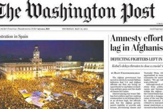"""The Washington Post dedica su foto de portada a la """"primavera de frustración en España"""""""