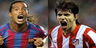 Ronaldinho podría ser el sustituto del 'Kun' en el Atlético