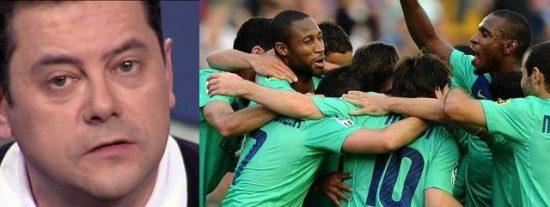 """Tomás Roncero: """"He visto una celebración [la del Barça] sin euforia, están muy tocados por la final de Copa porque lo que querían era ganar al Madrid"""""""