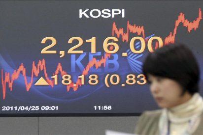 El índice Kospi sube 22,65 puntos, el 1,09 por ciento, hasta 2.092,94 puntos