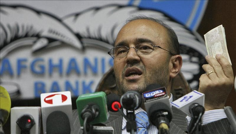 El gobierno afgano aún espera la dimisión formal del huido jefe del banco emisor