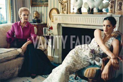 Carolina Herrera y su hija Carolina posan en Manhattan para Vanity Fair